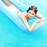 Inflatable Pool Floats for Adults, Portable Inflatable Pool Float Water Hammock, Pool Lounger Chair for Swimming Pool, Lake