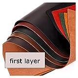 pezzo di cuoio abbronzato di alta qualità pezzo di cuoio genuine materiale in vera pelle di cuoio full cuoio in pelle di pelletteria pelletteria 8 colori (colore : red, dimensione : 30x60 cm)