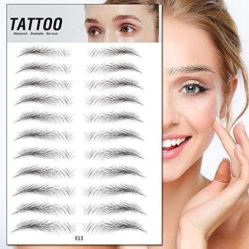 11 Paires/Feuille Autocollants Pour Sourcils Autocollant Bionique Pour Sourcils Sourcils De Tatouage Pour L'outil Cosmétique De Maquillage