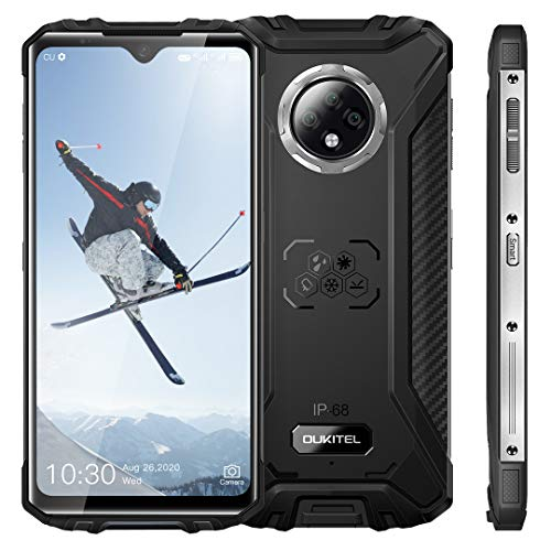 OUKITEL WP8 Pro Móvil Libre Resistente Android 10.0 Teléfono, 4GB RAM+64GB ROM Movil Antigolpes, 6.49 Pulgadas HD + 16MP Triple cámara Teléfono, Batería 5000mAh, Smartphone Dual SIM NFC GPS