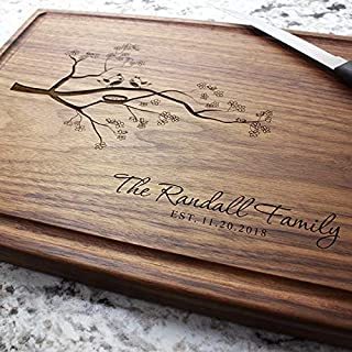 Personalized Wedding Gift Birthday Gift Anniversary Gift Engagement Christmas Gift Monogram Laser Engraved Personalized Cutting Board
