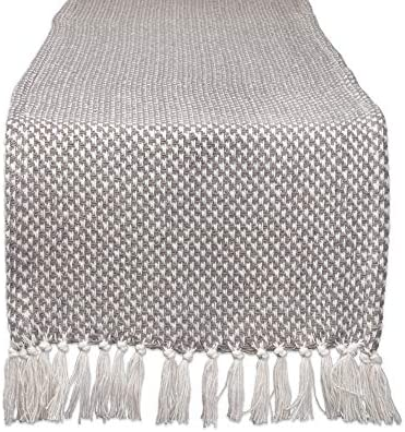 DII CAMZ11265 Braided Farmhouse Woven Table Runner 15 x 72 inches Gray product image
