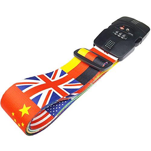 TSAロック付きGPTスーツケースベルト アウトレット品 大国の旗柄