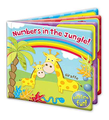 'First Steps' Numbers In The Jungle Baby Floating Bath Book Educational & Fun Bath Toy for Babies
