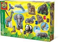 SES Creative 01132 - Relief gießen Safari Tiere, gelb