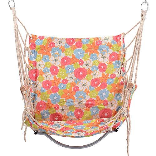 Balançoires YXX Hanging Corde hamac Chaise avec Main Courante en Bois, Grande Chaise de Porche Swing for Patio, Porche, Chambre à Coucher, Jardin, Piscine intérieure (Color : Style-1)