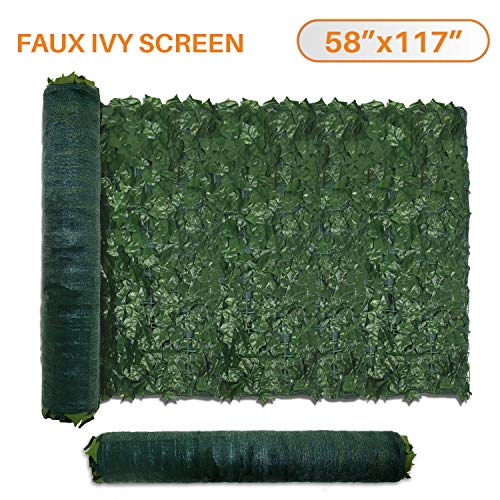 TANG by Sunshades Depot 58' x 117' inch Artificial Faux Ivy Privacy Fence Screen Leaf Vine Decoration Panel with 130 GSM Mesh Back
