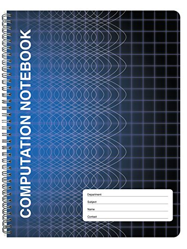 "BookFactory Computation Notebook/Engineering Notebook - 100 Pages (9 1/4"" X 11 3/4"") - Scientific Grid Pages, Durable Translucent Cover, Wire-O Binding (COMP-100-CWG-A-(Computation))"