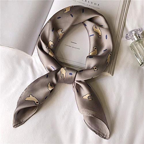 Qianqingkun vierkante zakdoek voor het ophangen van broeken, vierkant sjaal voor dames, wilde lente
