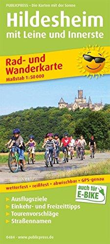 Hildesheim mit Leine und Innerste: Rad- und Wanderkarte mit Ausflugszielen, Einkehr- & Freizeittipps, wetterfest, reissfest, abwischbar, GPS-genau. 1:50000 (Rad- und Wanderkarte: RuWK)