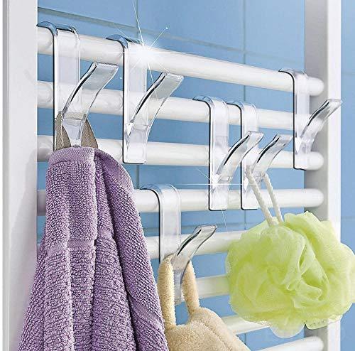 12 Stks Y Vorm Haak Handdoek Hanger voor Verwarmde handdoekenrek Radiator Buisvormige Bad Haak Houder Opslag Rack Bad Haak Handige Picks
