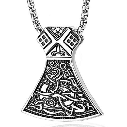 NC110 Tide Men Titanium Steel Torrey God Hammer Necklace Pendant Manwei retro Stainless Steel Raytheon Hammer Item Pendant Jewelry YUAHJIGE