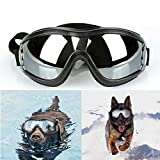 Dog Uv Protection Sunglasses, Pet Dog Supplies, Dog Sunglasses Windproof Uv Protection Pet Skiing Sunglasses Dog Snow Goggles Eye Wear Protection with Adjustable Band for Medium to Large Dogs