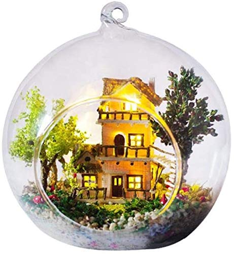 gao Miniature Dollhouse Kits Christmas Creative DIY Handmade Doll House Micro Landscape Cottage Children's Day