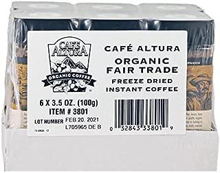 Cafe Altura Organic Fair Trade Instant Coffee, 3.53 oz (Pack Of 6)