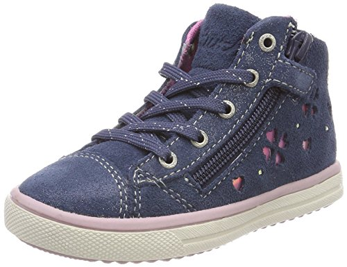 Lurchi Mädchen Spring Stiefel, Blau (Jeans), 33 EU