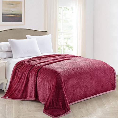 RONGXIE Neue Einfarbige Weiche Flanelldecke Coral Carpet Velvet Towel Sofadecke Beibei Velvet Blanket Bettwäsche Multi-Color Optional Home Camping Bettwäsche