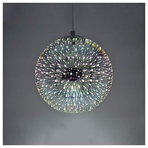 Huahan Haituo moderne Pendelleuchte Lampe moderne Kronleuchter 3D Bunton Glas Fast-Food Restaurants Office Light Bar Café Dekoration Chandeliers(bunt,20CM)