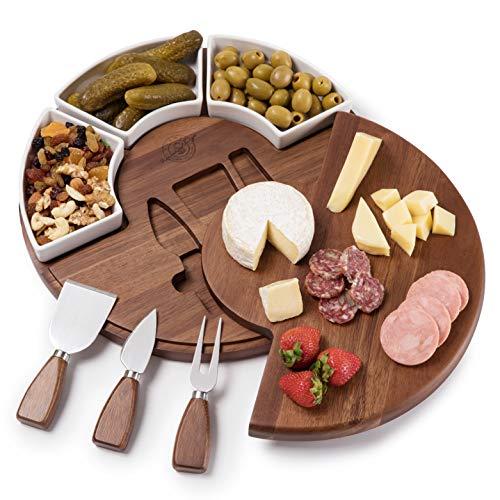 Shanik Upgraded Cheese Cutting Board Set