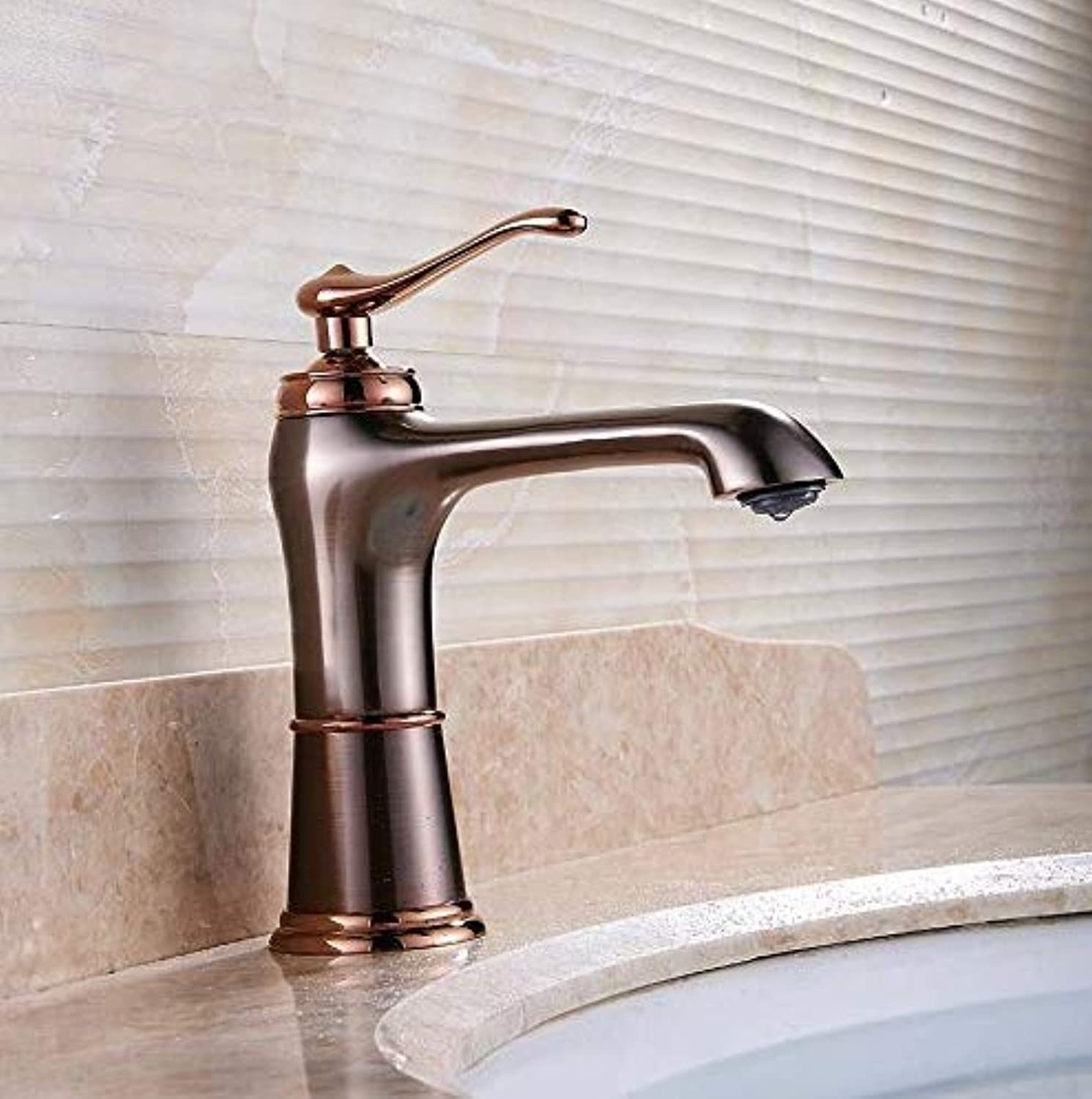 Basin Faucet Retro Faucet Brass Bathroom Basin Mixer Tap Oil Rubbed Bronze Tap Bathroom Faucet Hot and Cold Water Basin Faucet