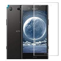 Sony Xperia XZ1 Compact ガラスフィルム 3D全面 日本製素材旭硝子製 99.99%高透過率 高硬度9H 気泡防止 スクラッチ防止 飛散防止処理 防指紋 自動吸着 Sony エクスペリア XZ1 Compact ガラスフィルム 保護フィルム