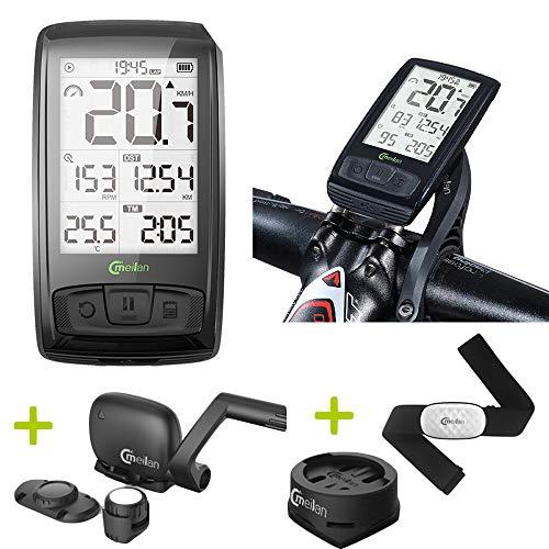 Computadora Bici Velocímetro Inalámbrico de Bicicleta Bluetooth con Ritmo Cardiaco/Ant + /...