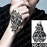 Handaxian 3 pcs-étanche Tatouage Autocollant Totem Fleur Texte ne jamais abandonner Tatouage Tatouage Main Bras Couronne Tigre tato Corps art-10-no10