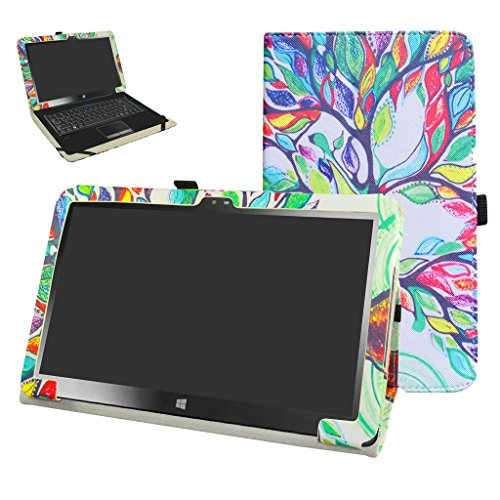"""Insignia 11.6 NS-P11W7100 / NS-P11A8100 Case,Mama Mouth PU Leather Folio Stand Cover for 11.6"""" Insignia 11.6 NS-P11W7100 / NS-P11A8100 11.6 Inch Windows 10 Tablet PC,Love Tree"""