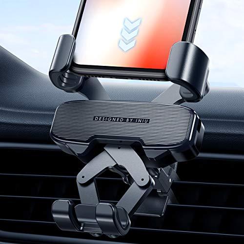 INIU Handyhalterung Auto, Hände Frei 360° Universal KFZ Handy Halterung für Auto Zubehör für iPhone 12 11 Pro XR X 8 Samsung Galaxy S20 Note 20 Xiaomi Huawei Google Sony LG GPS-Gerät Smartphone mehr