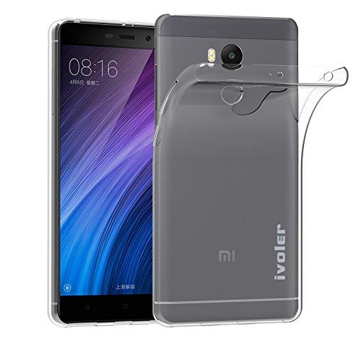 ivoler Cover Compatibile con Xiaomi Redmi 4 Prime/Xiaomi Redmi 4 PRO, Silicone Case Molle di TPU Trasparente Sottile Custodia