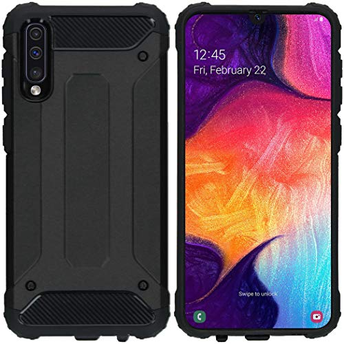 iMoshion kompatibel mit Samsung Galaxy A50/A30s Hülle – Rugged Xtreme Back Cover Schutzhülle – Hard Hülle Handyhülle in Schwarz [Stoßabsorbierend, Dual-Layer Design]