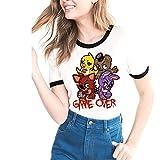 Five Nights at Freddy'S Camisetas Camiseta de Ocio Blusa de Manga Corta Suelta Top cómodo con Estampado de túnica de Verano Unisex Five Nights at Freddy'S Tshirt (Color : A03, Size : S)