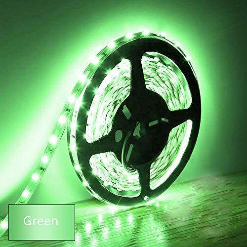 Tira de luces LED de 5 m 300 unidades SMD 5630 tiras luminosas de baja tensión 12 V cinta no impermeable al agua IP20 LED tira de luz de cinta verde para armarios de cocina domésticos