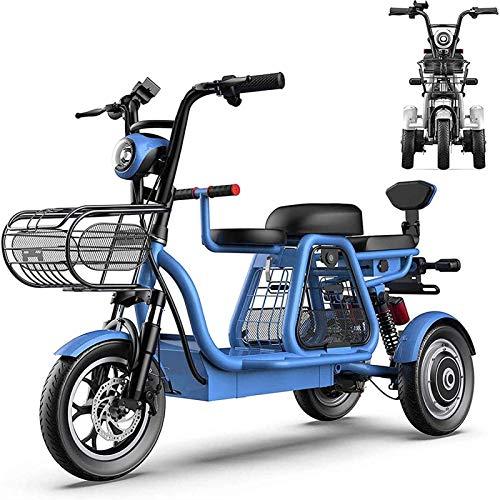 Ebikes, bicicletas eléctricas para adultos 12 '' con 48V desmontable Lon Lon Battery Mobility Scooter con asiento para niños y LED Luz Ciudad Ciudad de viaje en bicicleta para compras en casa Use la v