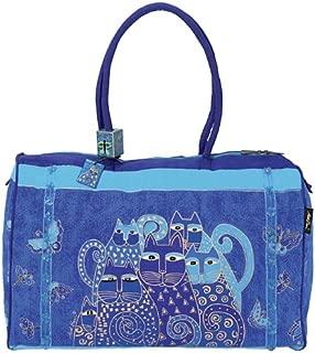Laurel Burch LB414 Travel Bag, Indigo Cats