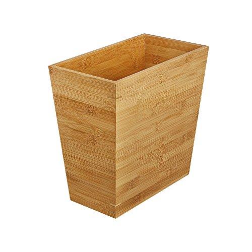 WoodLuv Slimline Mülleimer aus Bambus, Papierkorb–aus 100 {6a2148cda5f53cd0469a714255289f8e7b7e8e7ea33a83af4f7514a69ca12248} natürlichem umweltfreundlichem Bambus