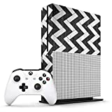 Xbox One S Black And White Marble Zig Zag Tiles Console Skin / Cover/ Wrap for Microsoft Xbox One S