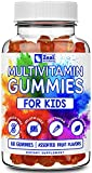 Kids Multivitamin Gummies (60 Count) Vegetarian, Gelatin Free, Allergen Free, Natural Flavors, Non-GMO - Gummy Vitamins for Kids Immune Support - Vitamin C and Zinc for Kids + D3, B6, B12, A, E