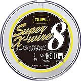DUEL (デュエル) PEライン 釣り糸 スーパーエックスワイヤー8 【 ライン 釣りライン 釣具 高強度 高感度 】 2.0号 300m 5色/イエローマーキング H3620N-5CR