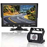 Upgraded 2017 Backup Rear View Car Truck Camera & Monitor System, Waterproof, 9' LCD Display Monitor, Night...