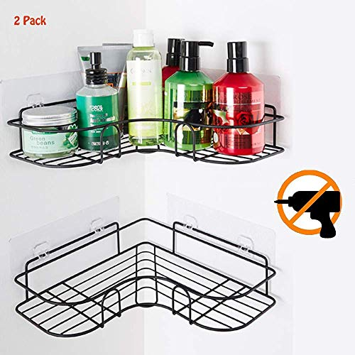 Saxhorn Duschregal Eckregal, Eckablage Duschkorb Duschablagen Duschwanne, Duschorganisator-Lagerung Ohne Bohren für Dusche Bad Küche