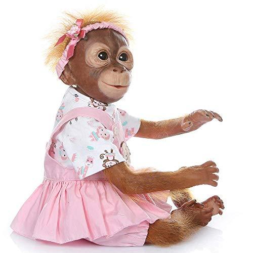Pinky Reborn Baby Dolls 21Pulgadas Mono de Bebé...