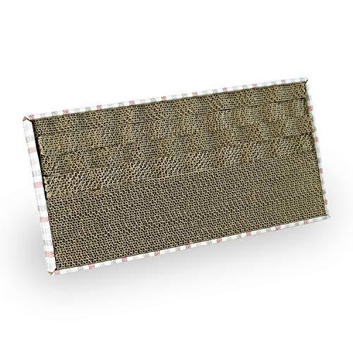 PATAM Tavoletta Tiragraffi in Cartone Ondulato – Graffiatoio Riciclabile per Gatti 45,5 x 22 cm Fun