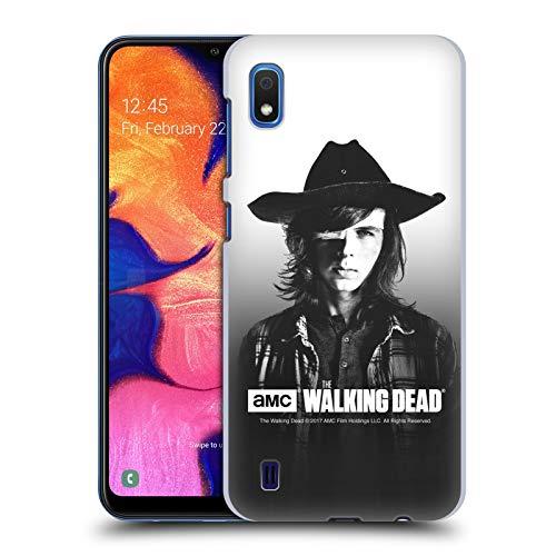 Head Case Designs Licenciado Oficialmente AMC The Walking Dead Carl Retratos filtrados Carcasa rígida Compatible con Samsung Galaxy A10 (2019)