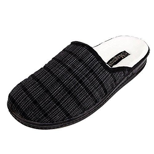 Magnus Herren Hausschuhe Badeschuhe (205C) Badelatschen Pantoffel Pantoletten Schuhe Neu Größe 40, Farbe Grau
