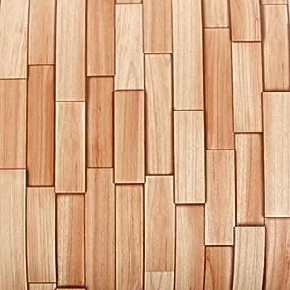 ROSEROSA Peel and Stick PVC Premium Wood Decorative Instant Self-Adhesive Covering Countertop Backsplash Slice Cedar (PG4373-4 : 2.00 Feet X 6.56 Feet)