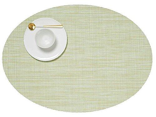 Chilewich Mini Basketweave Tischset, Matcha, 36 x 49,5 cm, oval
