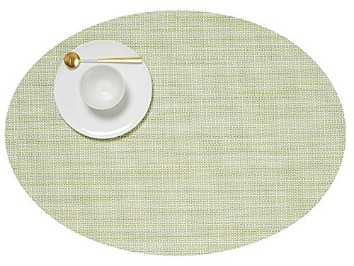 Chilewich Mini Basketweave Tischset, Matcha, 36 x 49,5 cm, oval