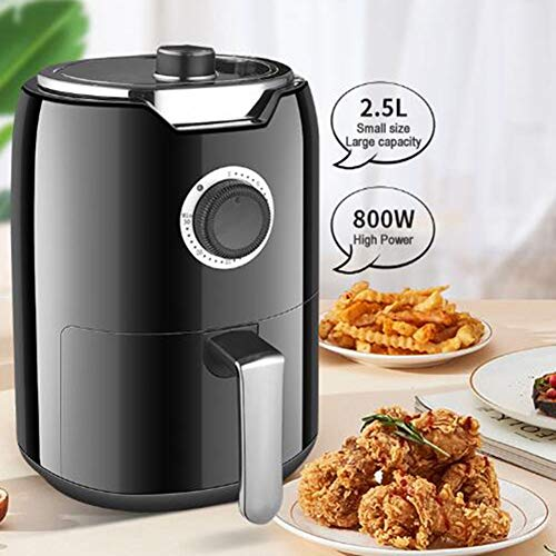 Yuiop Heißluftfritteuse,Öl Free Electric 2.5L Multifunktions-Air Fryer Mini Air Fryer Ofen Backen Kleine Kuchen Pizza Chips kompaktes Design