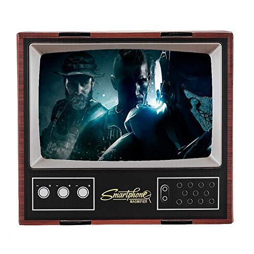 Lupa de pantalla móvil universal DIY 3D HD Video pantalla del teléfono lupa Retro TV Amplificador de pantalla titular del teléfono para el teléfono móvil para películas vídeos y juegos